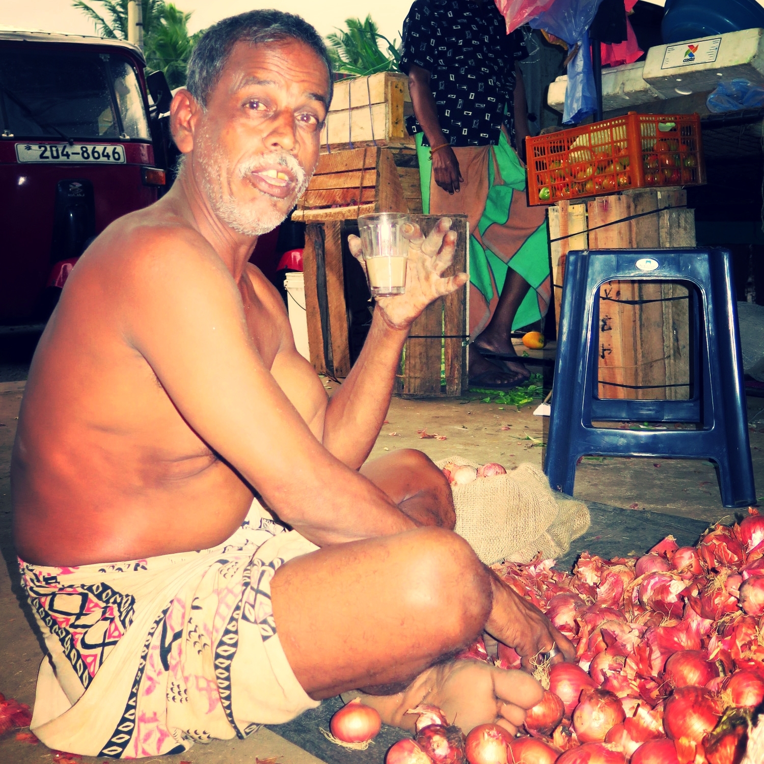 Sri lankan Vegetable seller