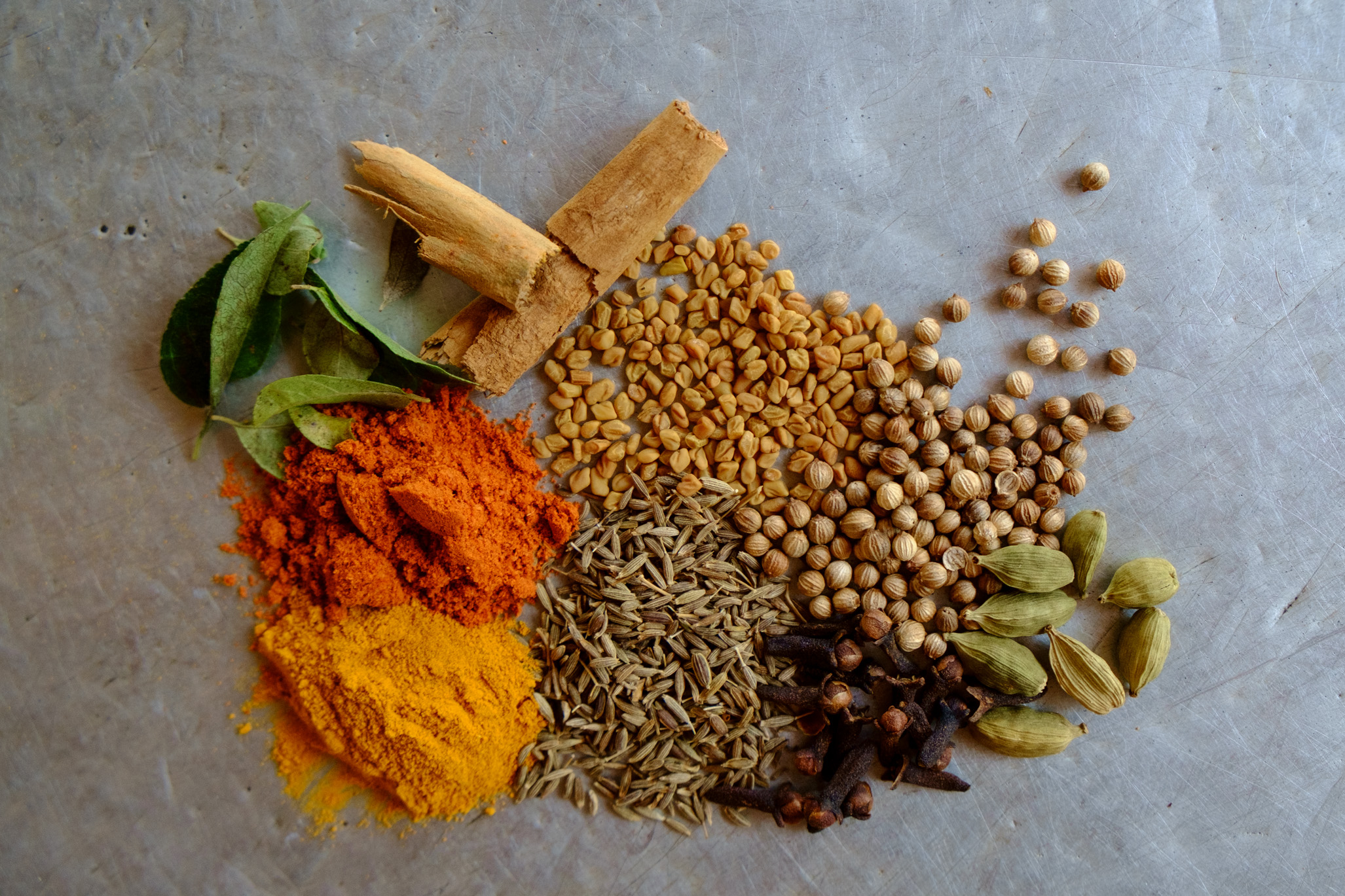 Ingredients for a good curry