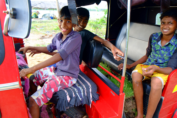 Happy kids in Kalpitiya