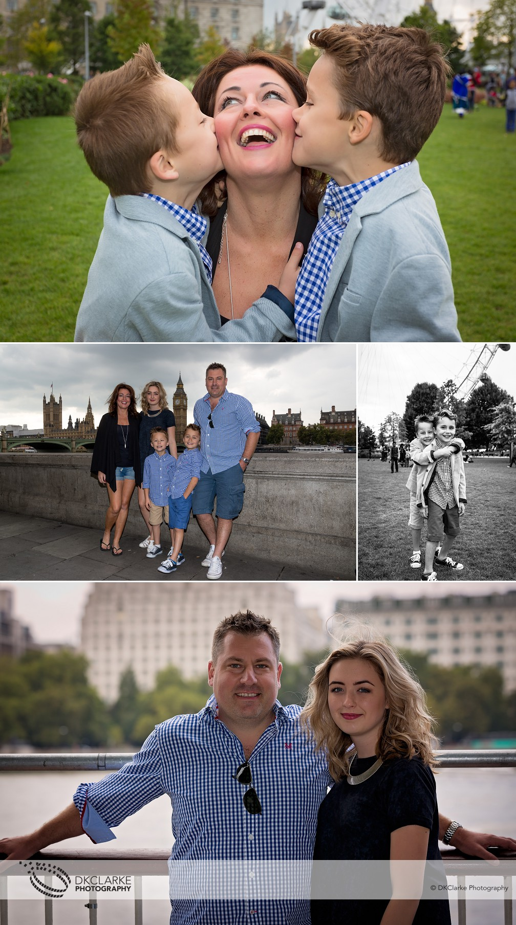 Family photography at the south bank, London