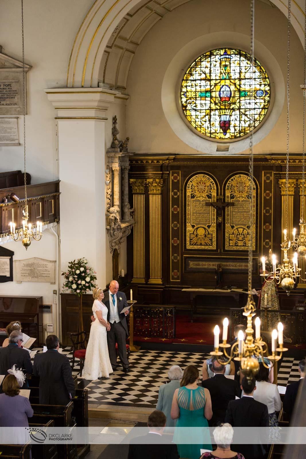 Wedding at St Mary's church, Twickenham