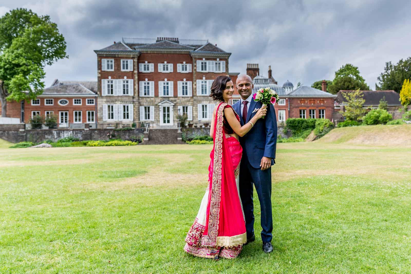 Bride & groom at York House, Twickenham