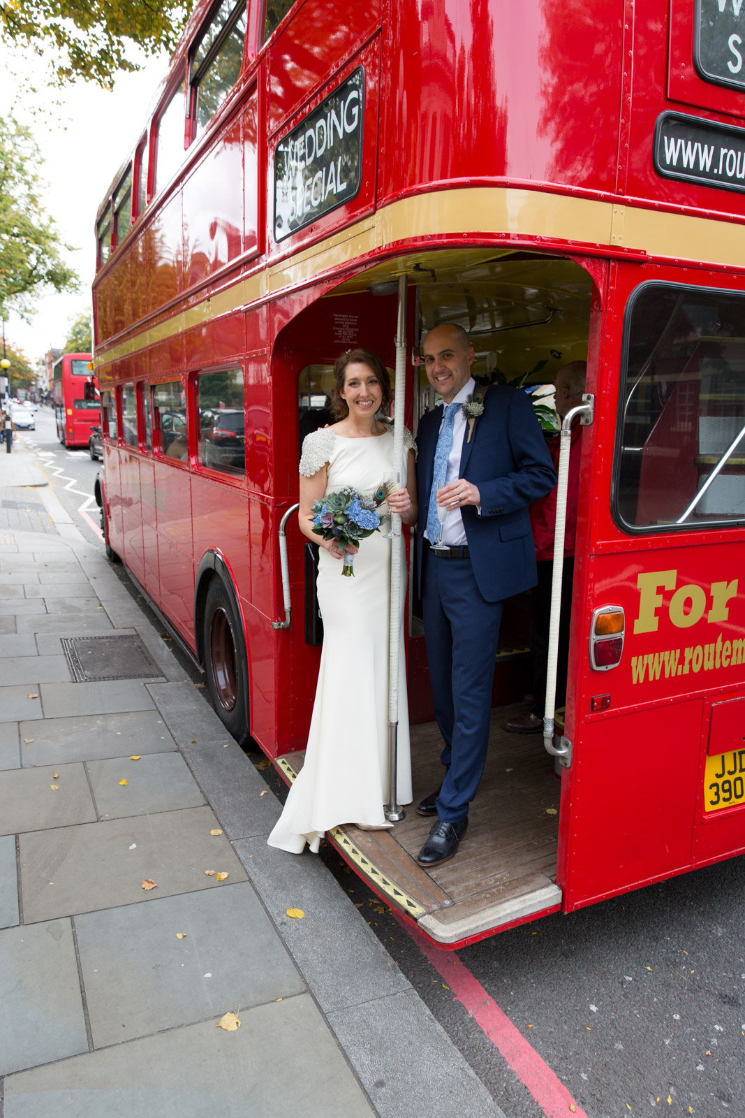 London bus wedding