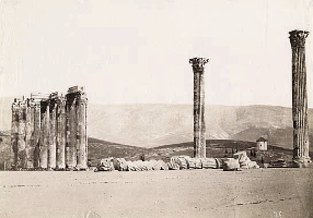 Anonymous, Temple of Jupiter, Greece 1860 albumen print