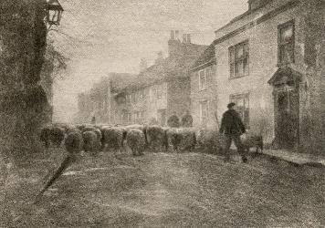 George Davison, In a Village Under South Downs, 1907 photogravure