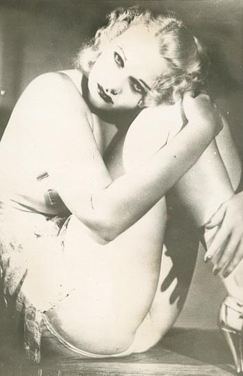 Jean Harlow, 1930, silver print