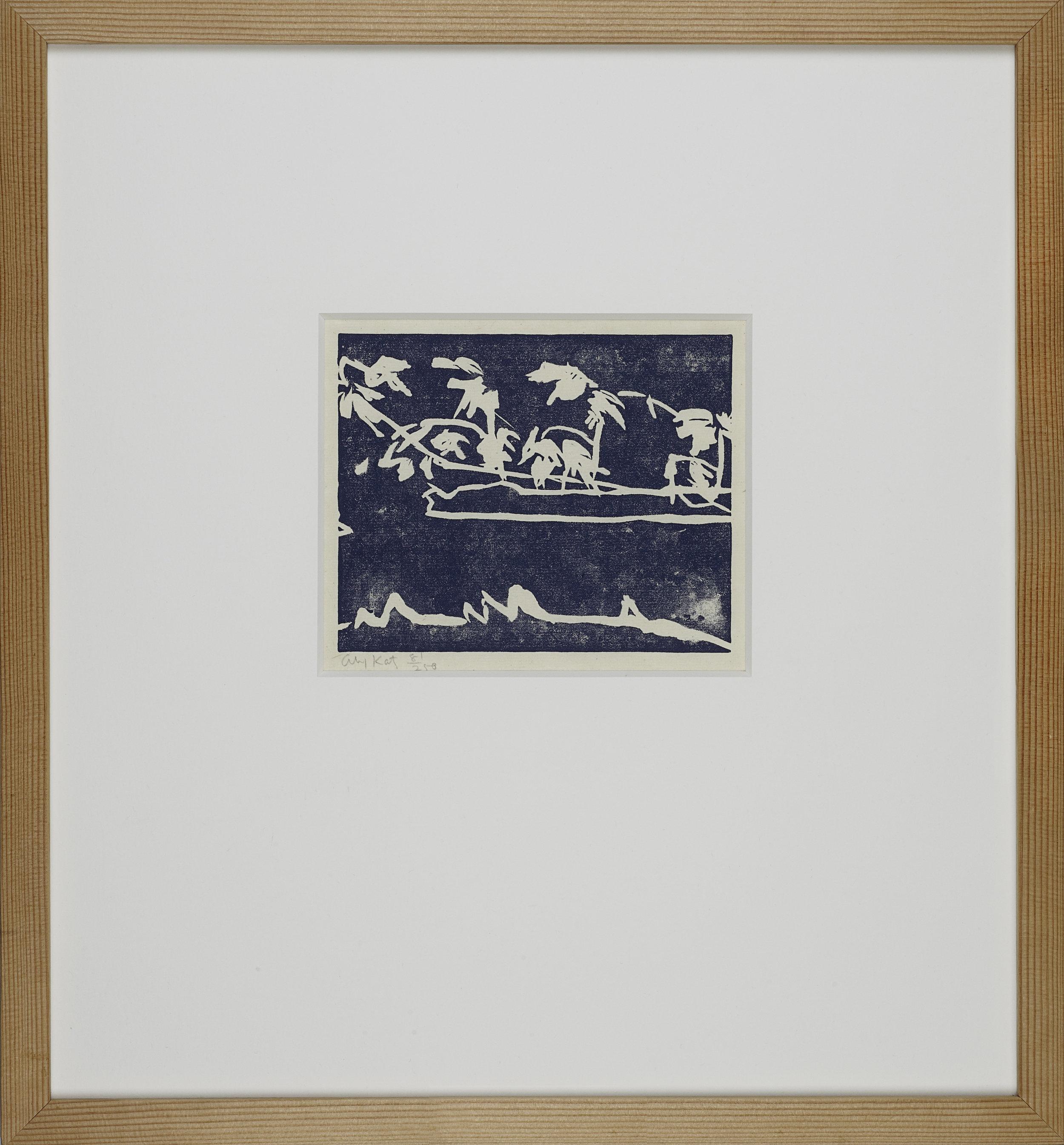 Coleman´s pond  . Linolschnitt . Edition 250 .  1.200 Euro