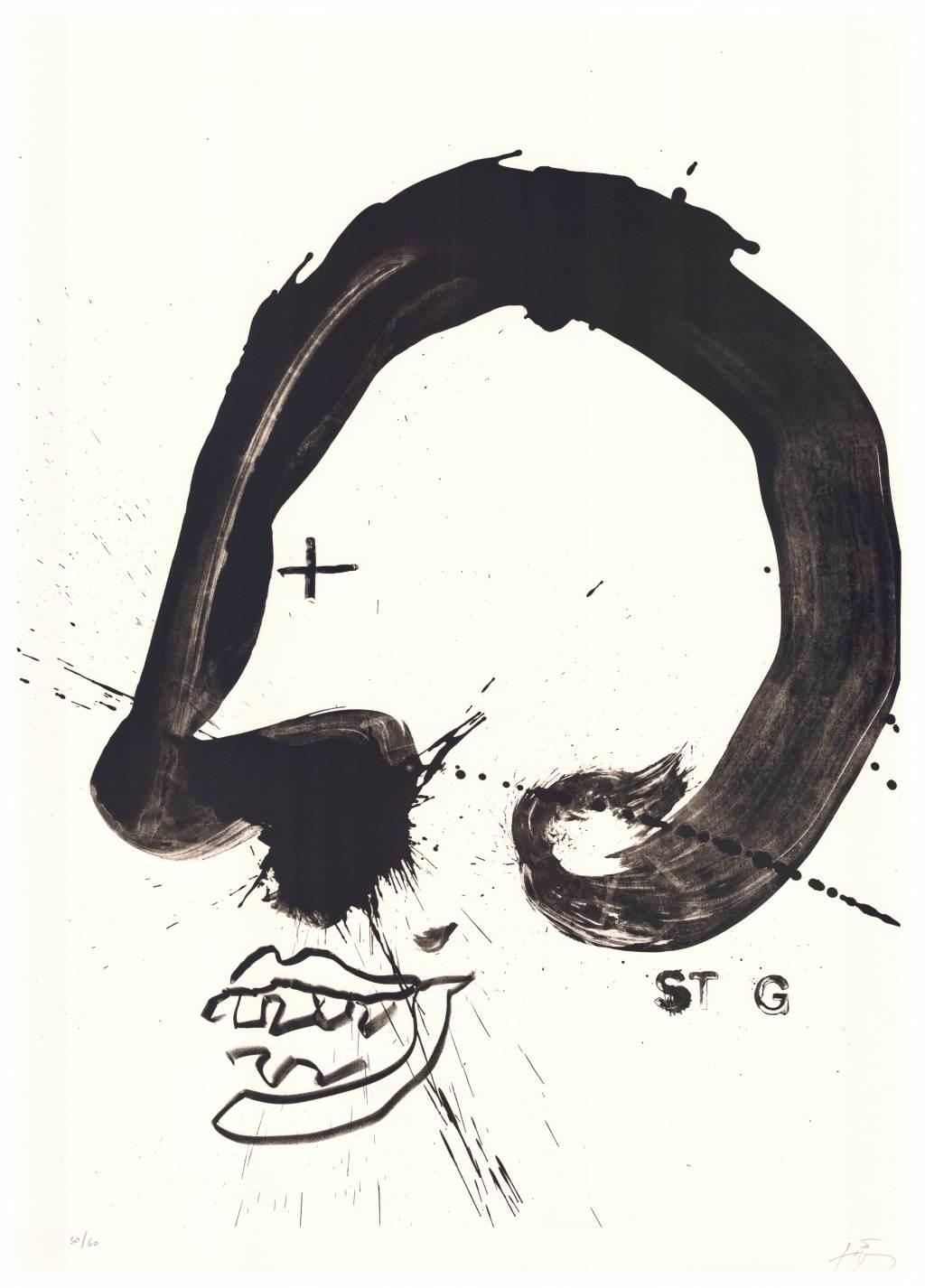 Antonie Tàpies   Improvisations en blanc i negre V . 1987 Lithographie . Auflage 60 . 105 x 75 cm  2.800 Euro