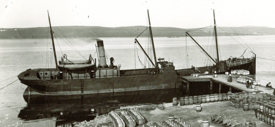 SS Robin around five years after launch. Lerwick, Scotland