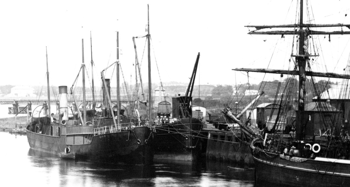 SS Robin at Colerain Quays, Ireland c 1897