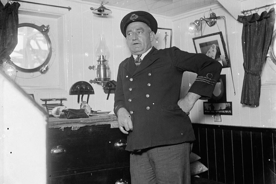 SS Eston's Captain in his cabin