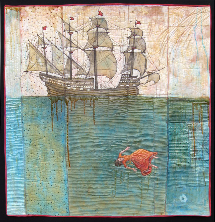 """""""The Sea Dream,"""" 2008. 46""""h x 44""""w, private collection."""