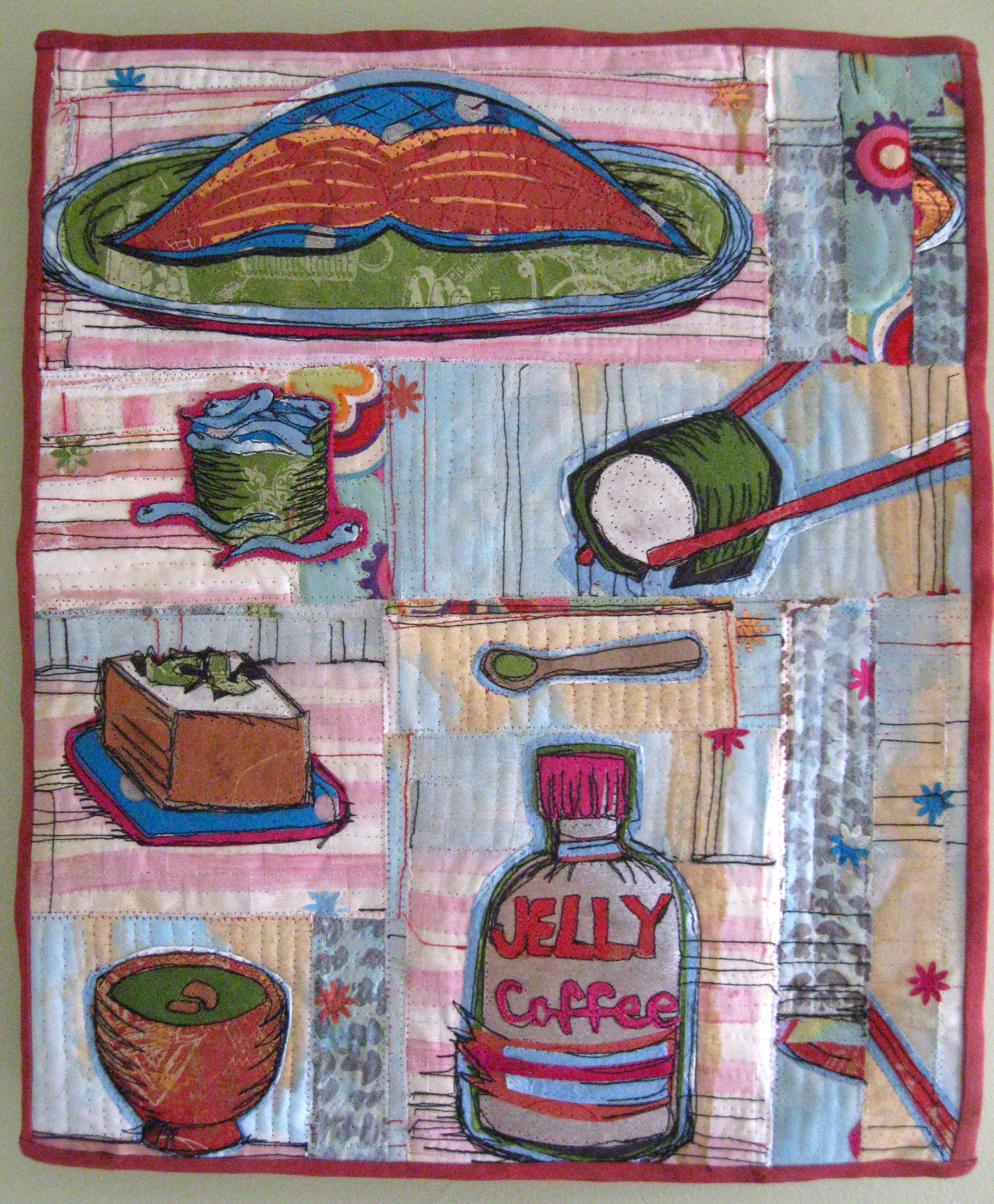 """Sushi for Breakfast,"" 2010. 16""h x 13""w, collection of Bernina USA."