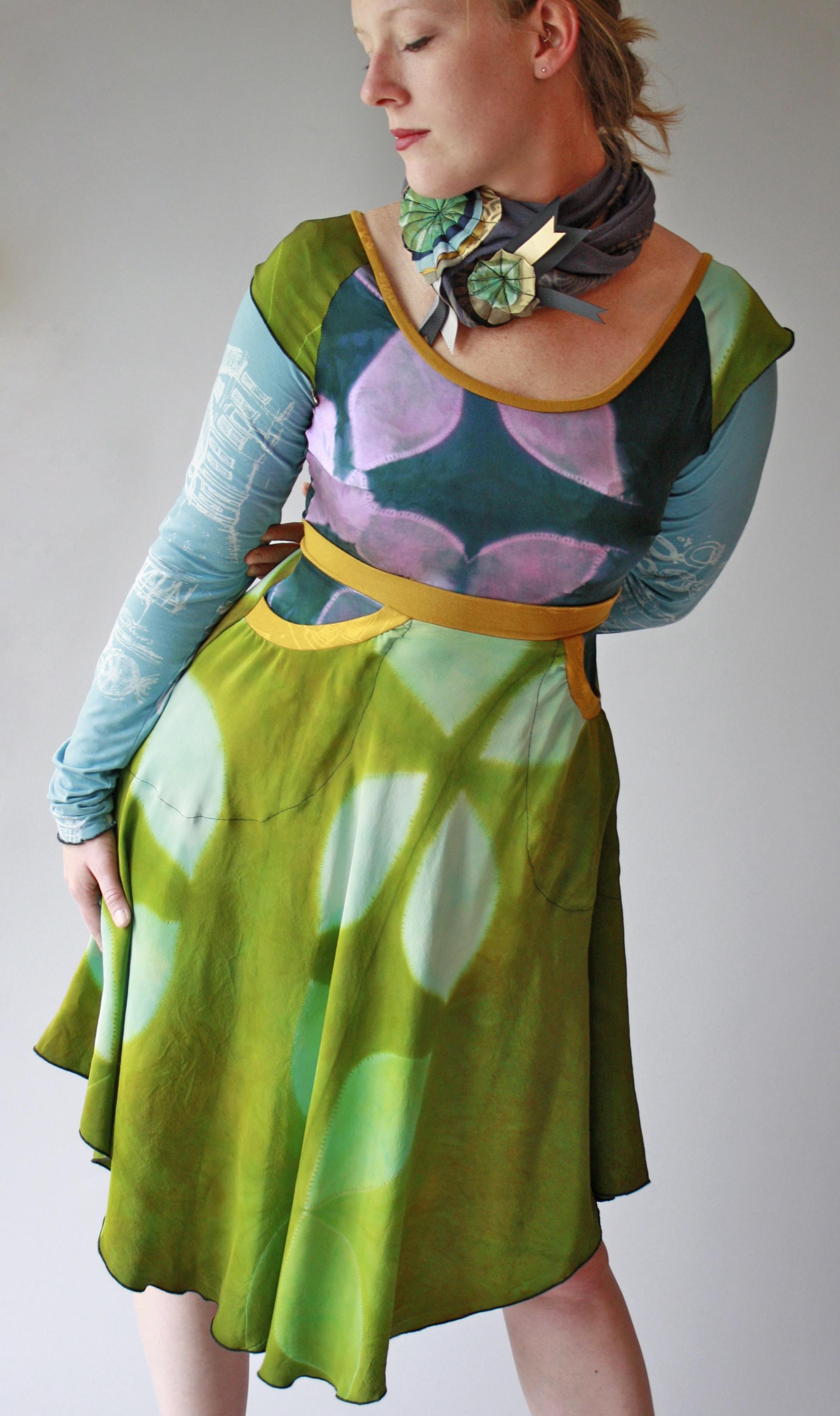 Garden Party Dress & Comet Loop Scarf.