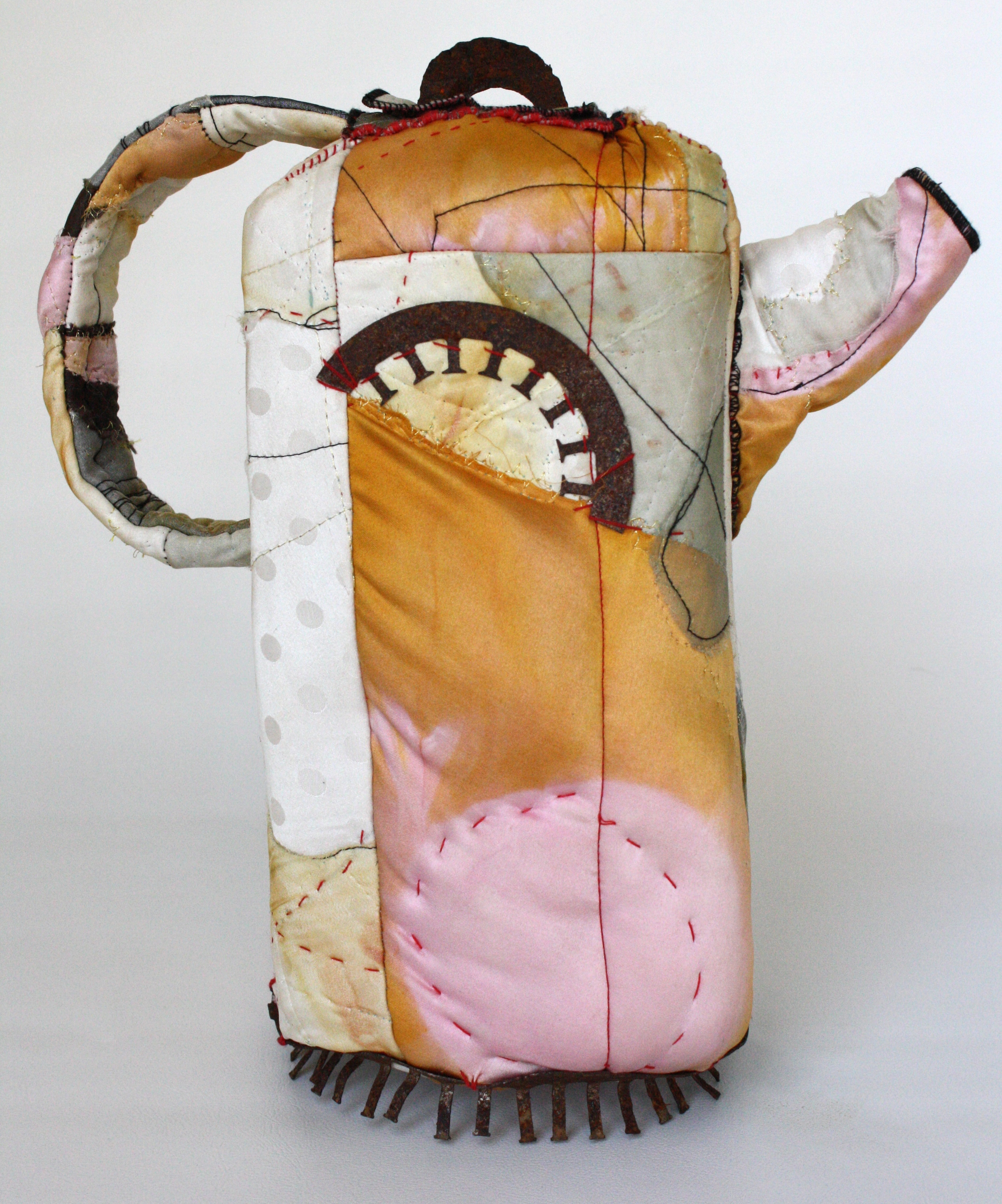 """Silk Teapot,"" 2012. 14""h, private collection."