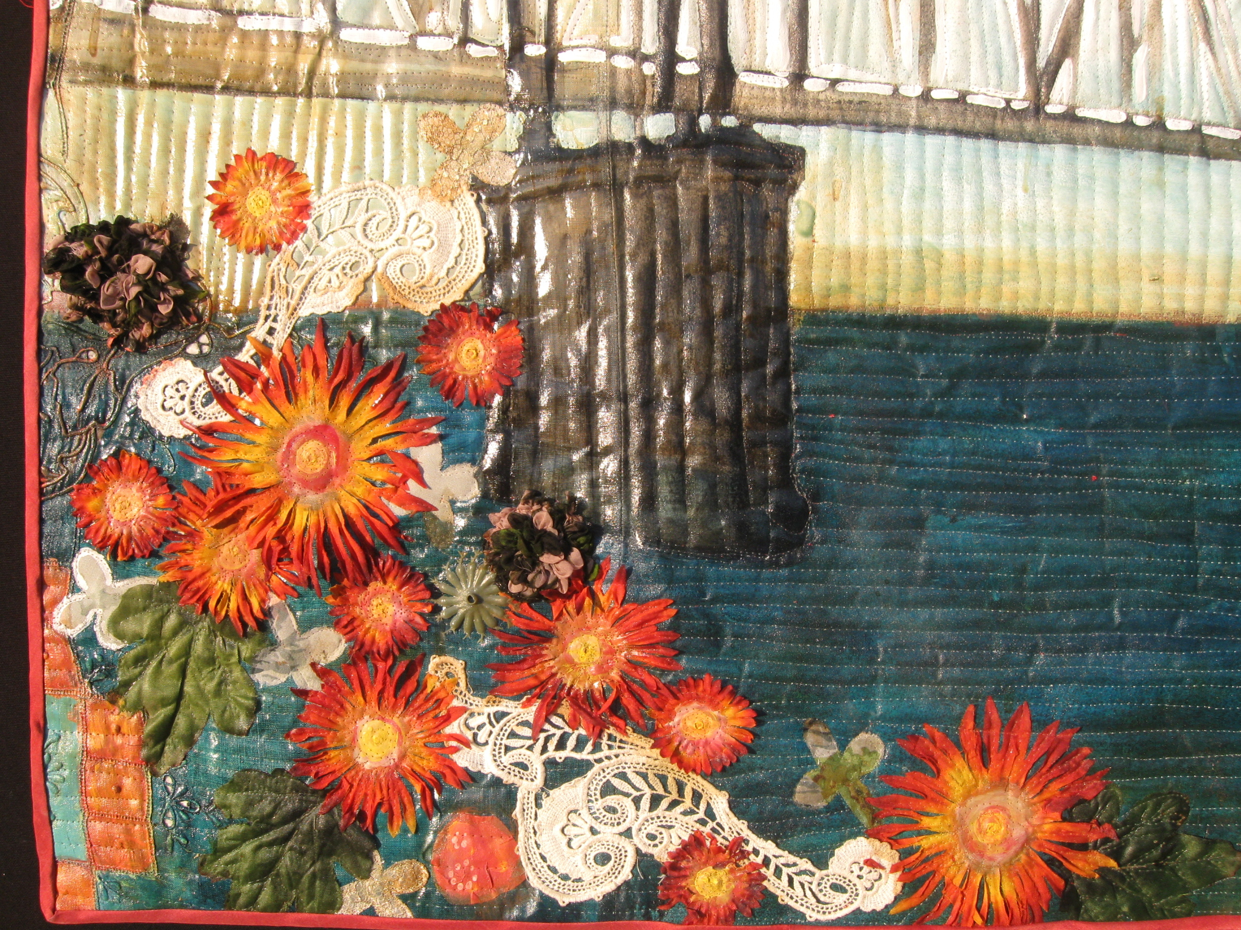 "Detail, ""Bridge with Birds."""