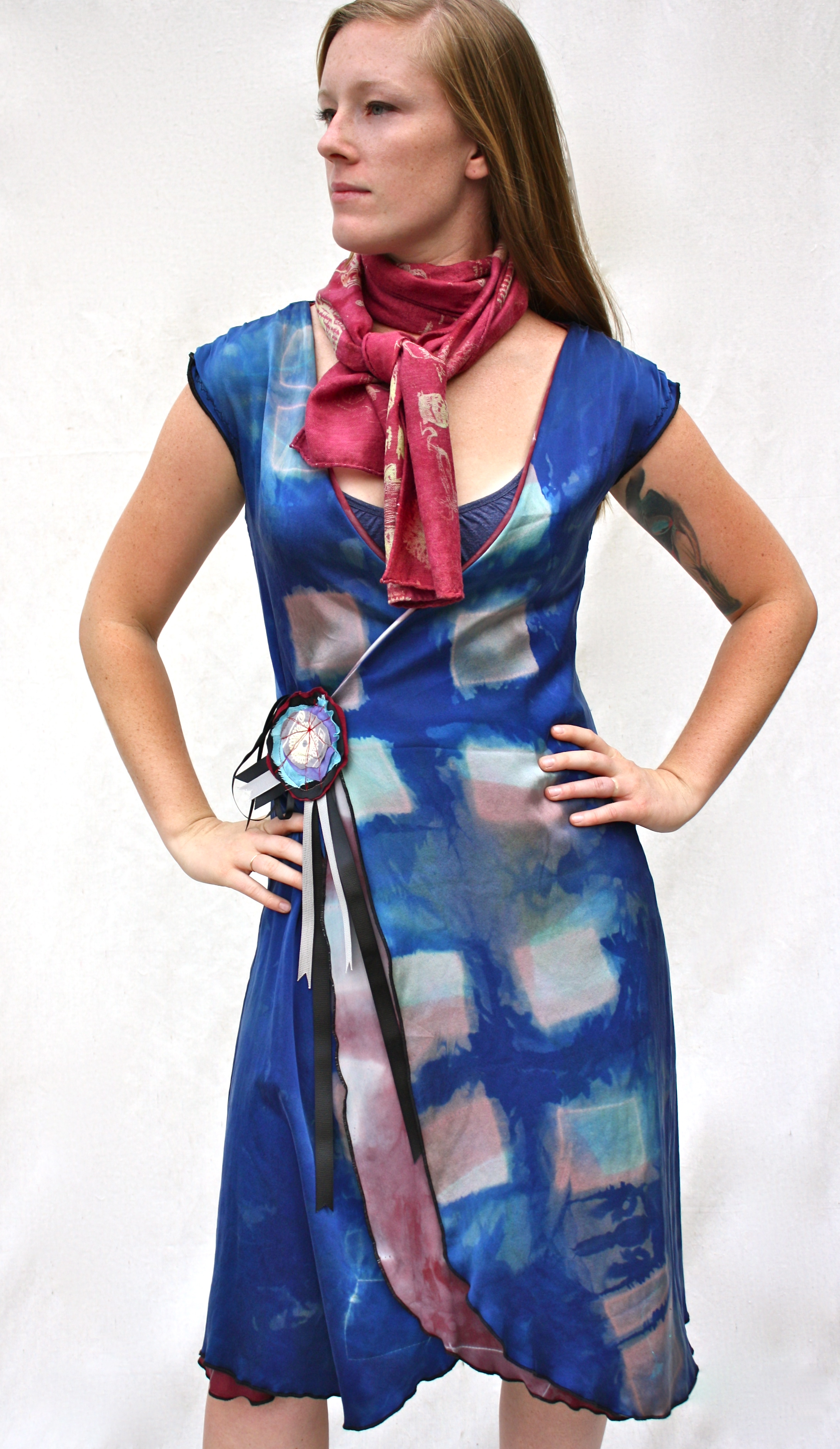 Reversible Dress & Scribble Scarf.