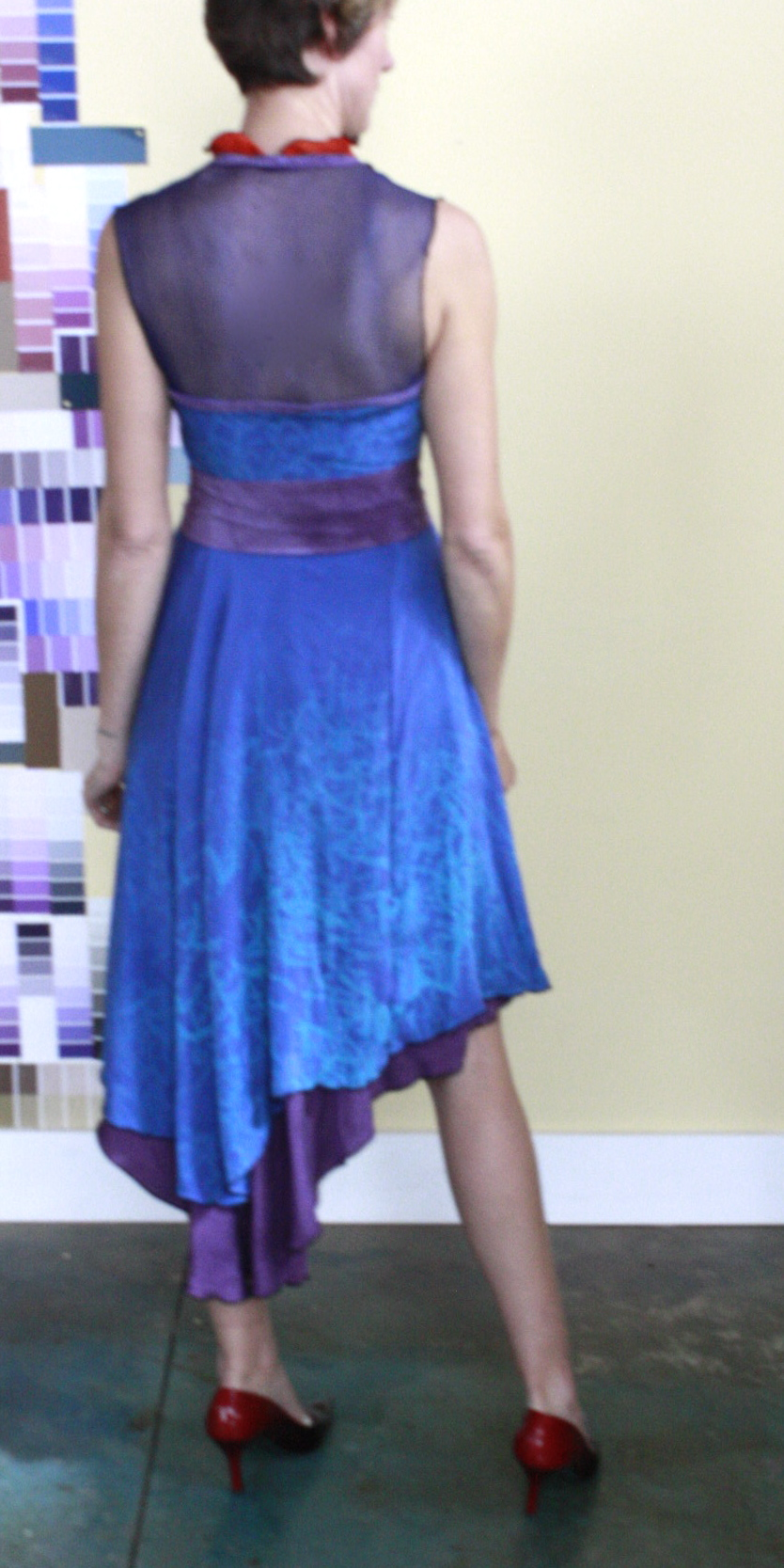 Custom silk bridesmaid dresses, 2013.