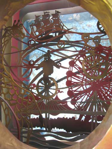 "Interior, ""Sideshow"" Circus Installation."