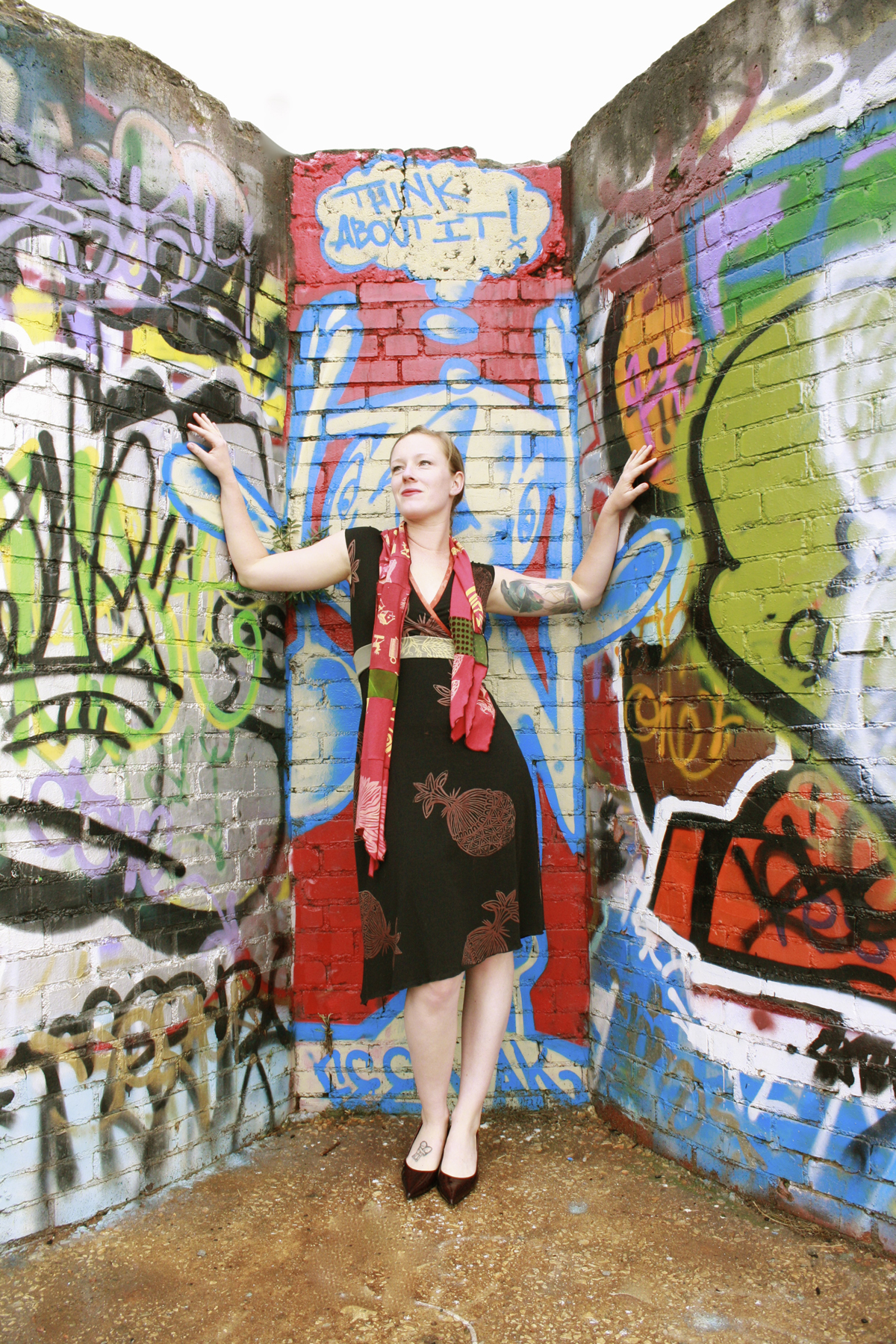 Confetti Dress & Facets Scarf, Asheville, NC.