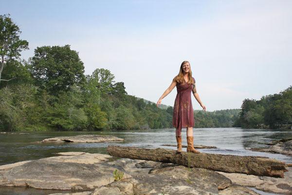 Draped dress, North Carolina.