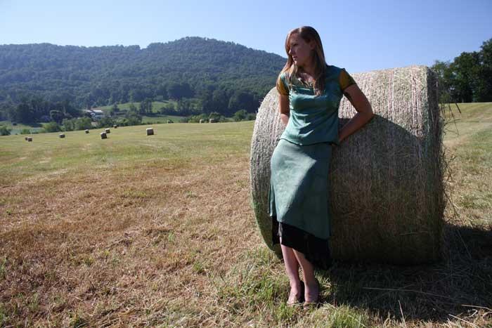 Ruffled Silk Tee & Reversible Skirt, North Carolina.