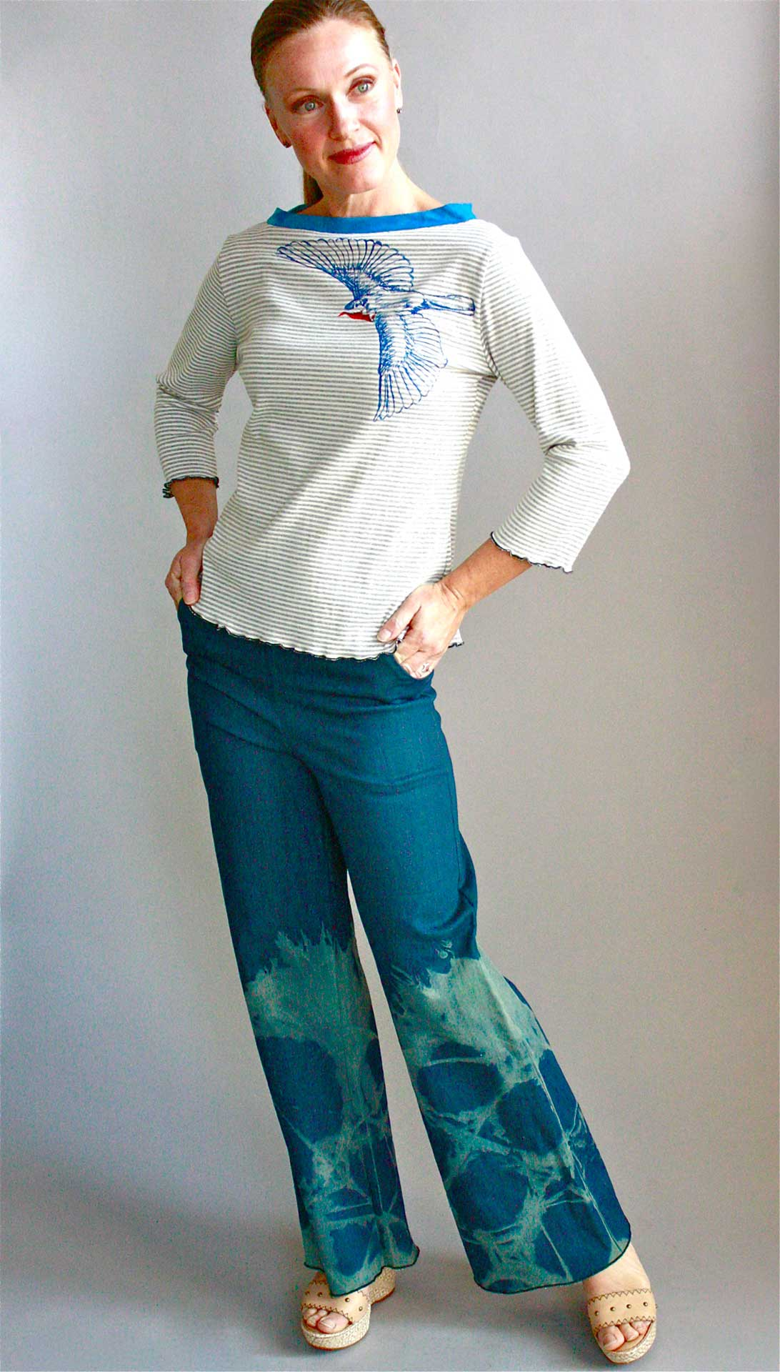 Bluebird Tee & Willow Pants.