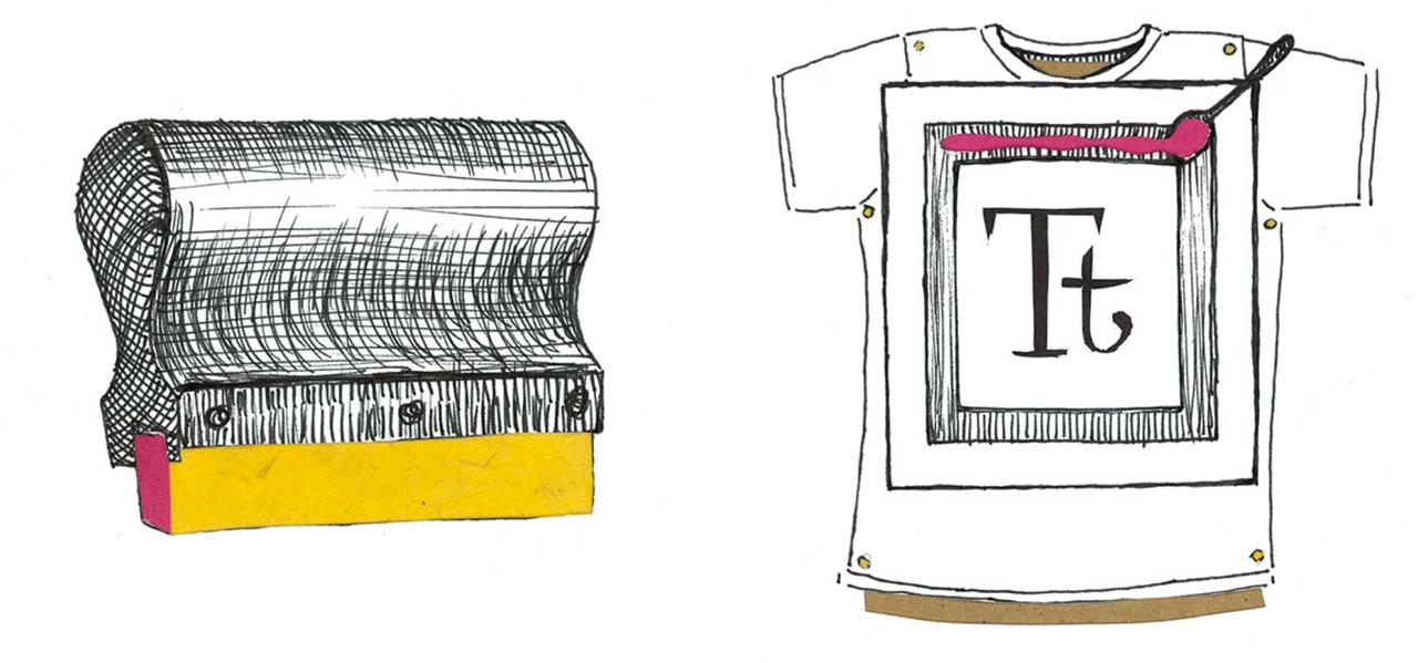 """Squeegee"" and ""Tt Tee"" book illustrations."