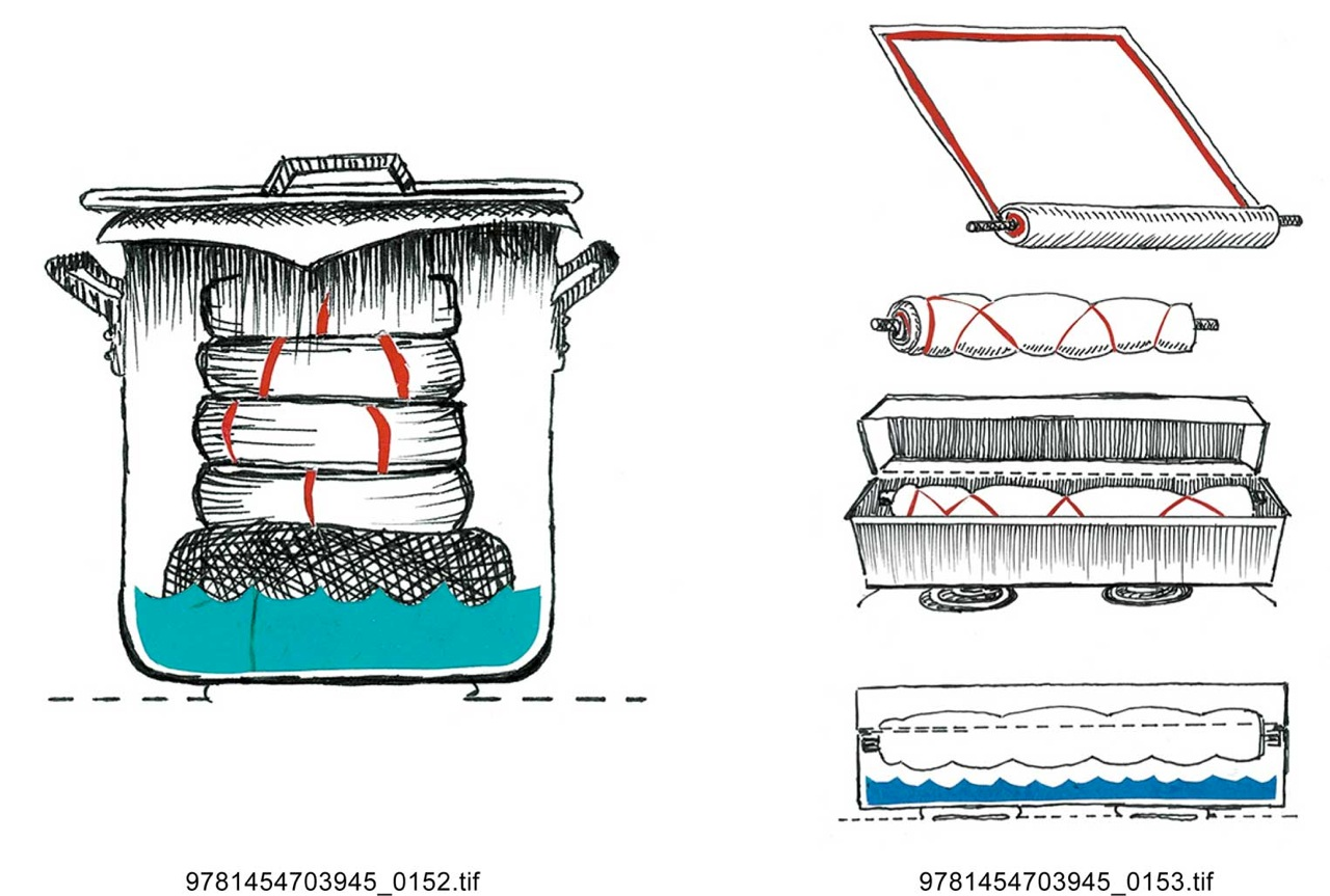 """Steaming Cutaways"" book illustrations."