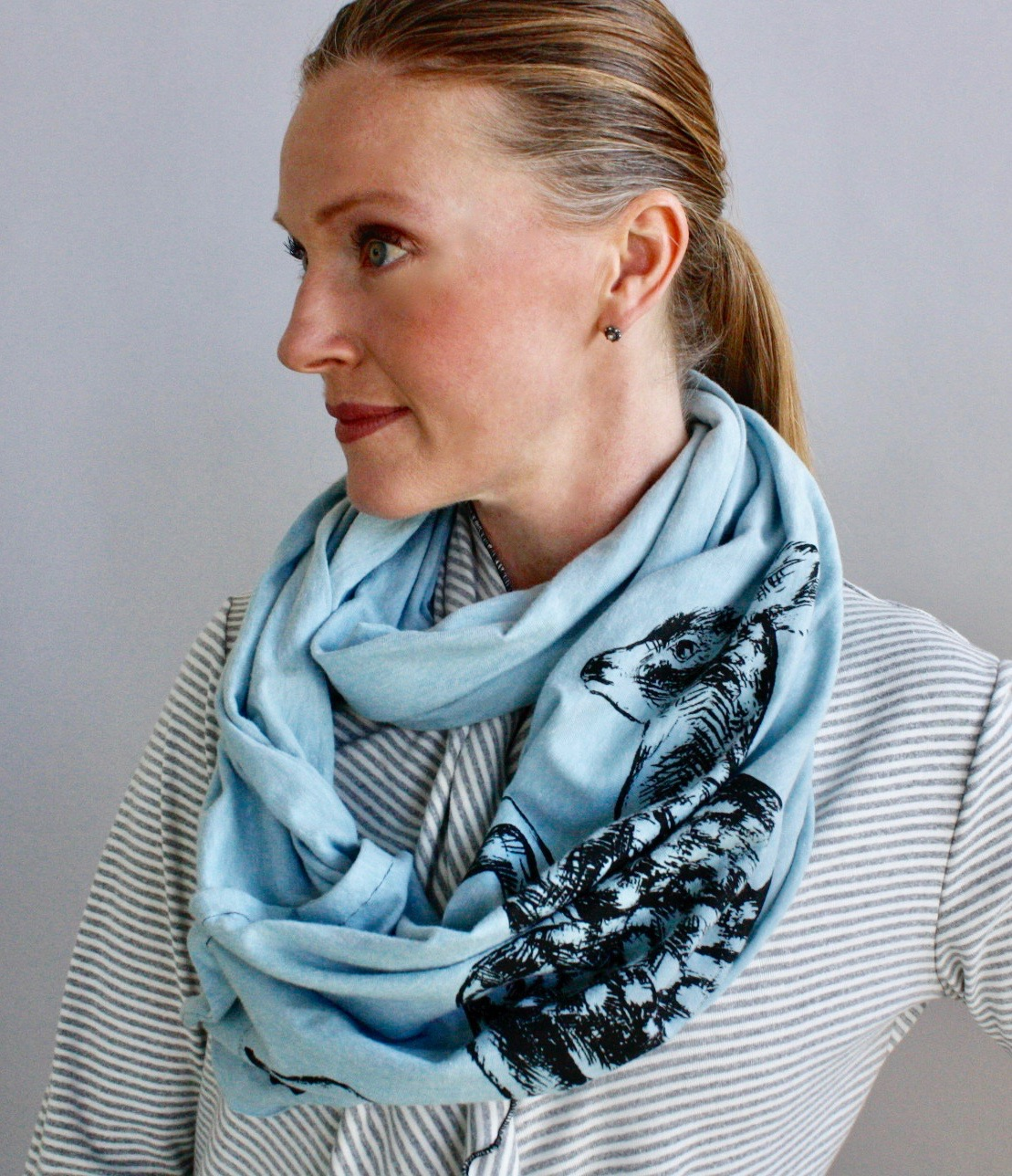 Leaping Fawn Infinity Scarf.