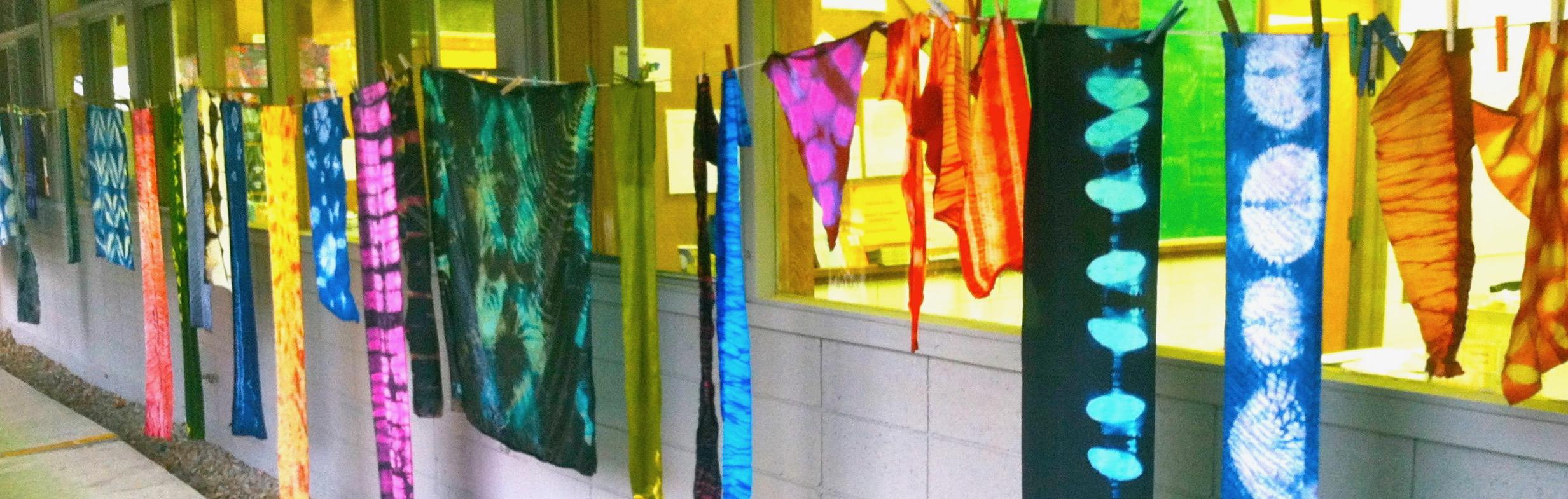 Students' shibori samples, Arrowmont School of Craft