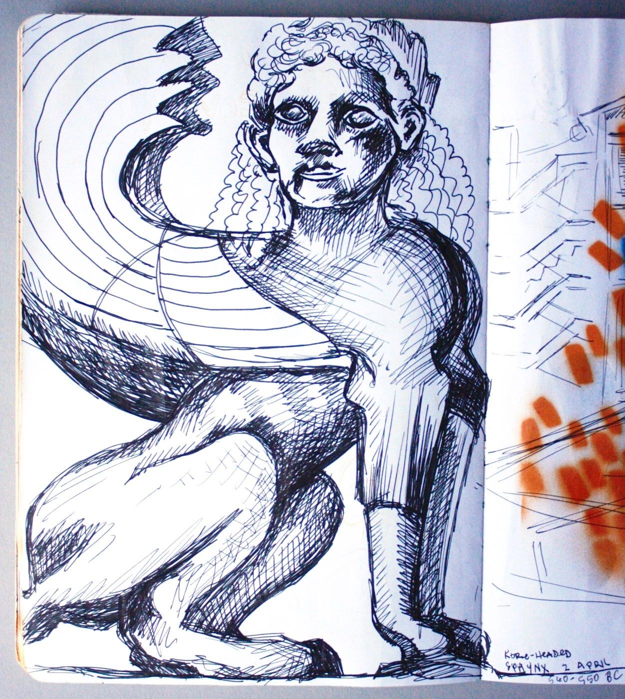 Sketchbook Page, Athens, Greece, 2019.