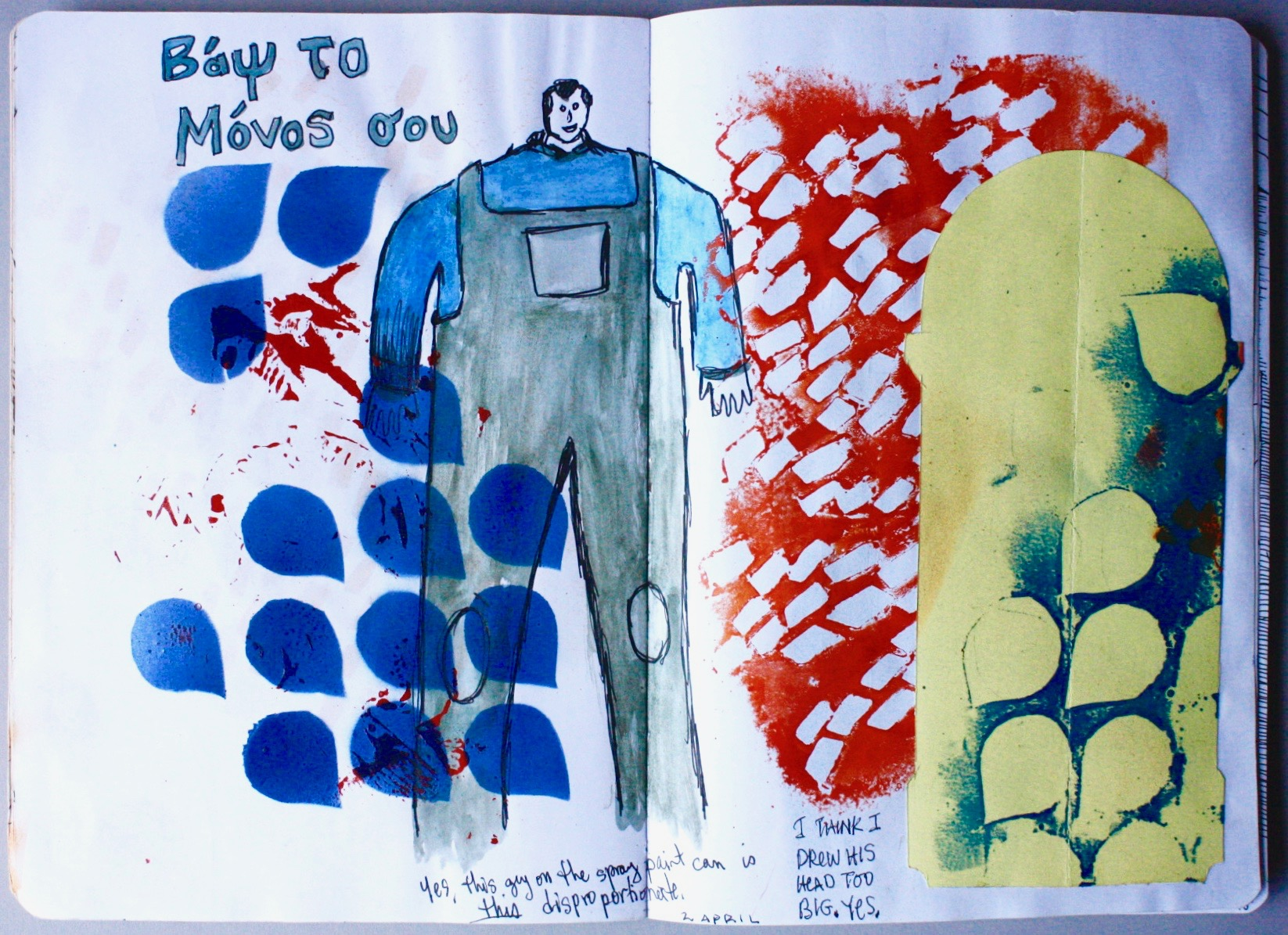 Sketchbook Page, Athens, Greece, 2019.