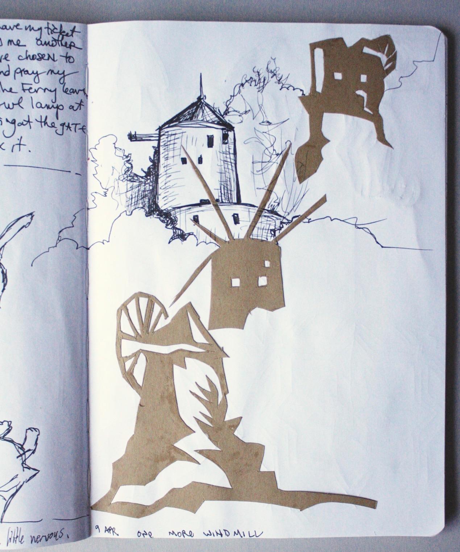 Sketchbook page, Hydra, Greece, 2019.