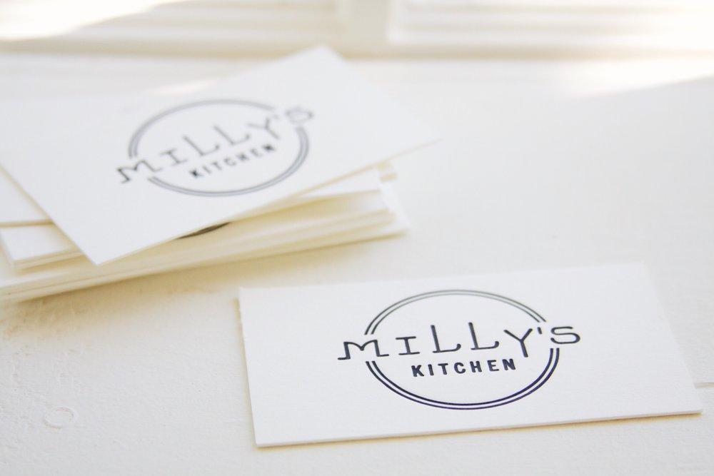 Design & Letterpress by Good South / Milly's Kitchen Logo & Letterpress Business Card