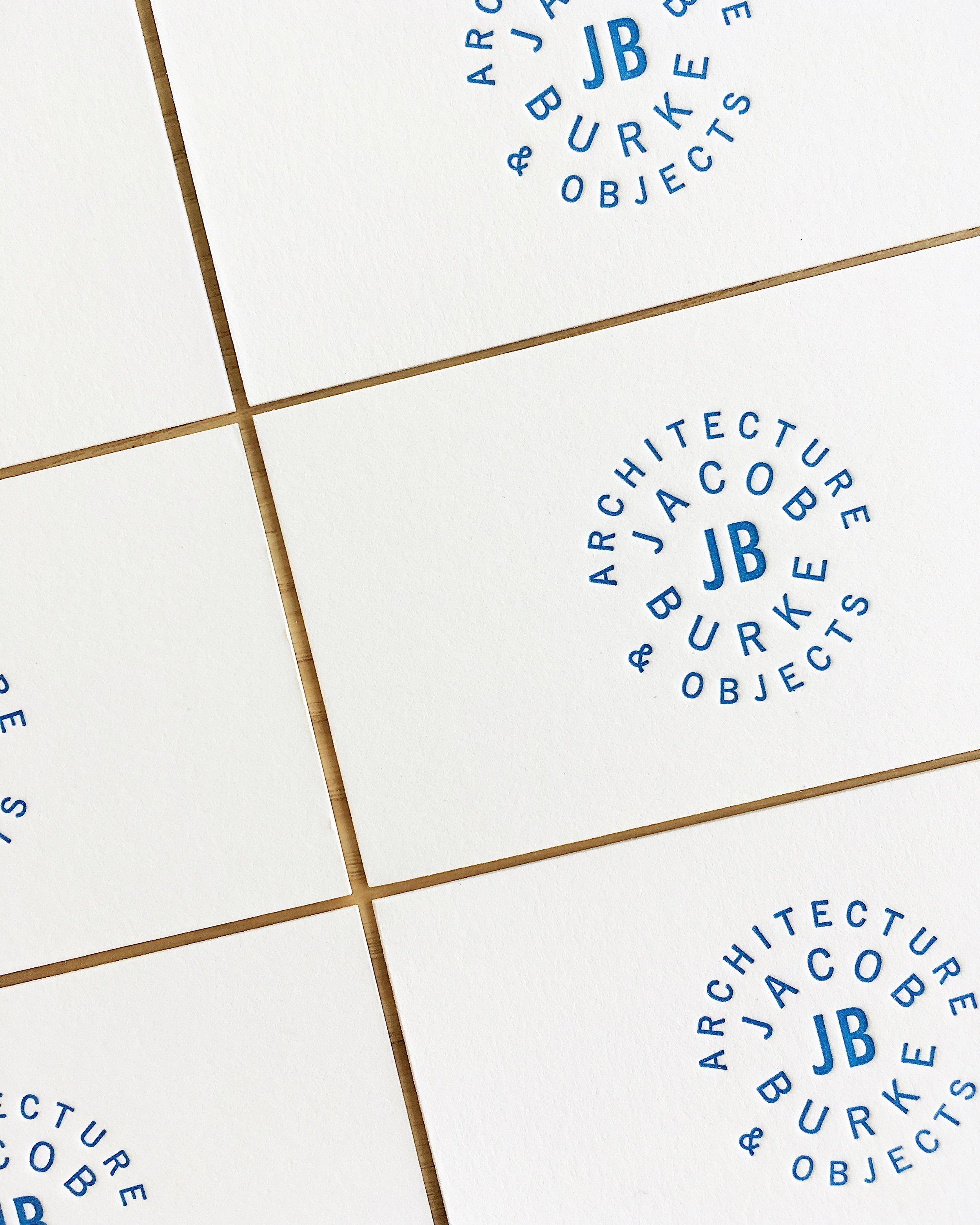Design & Letterpress by Good South / Jacob Burke Logo & Letterpress Business Card