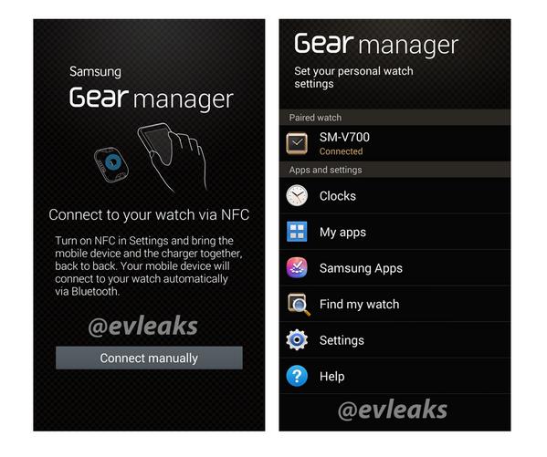 Galaxy Gear companion app  via EVLeaks
