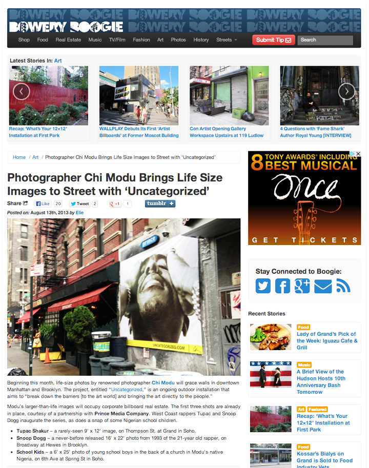 Click here to view the entire article at Bowery Boogie