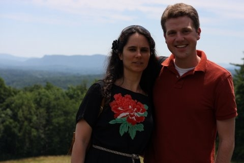 With Andreia Pinto-Correia at Tanglewood (2010)