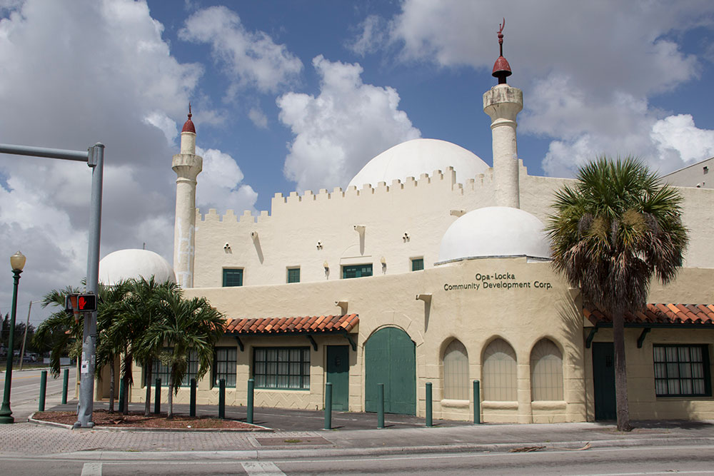 The OLCDC Headquarters in one of Opa-locka's prime examples of Moorish Revival architecture.