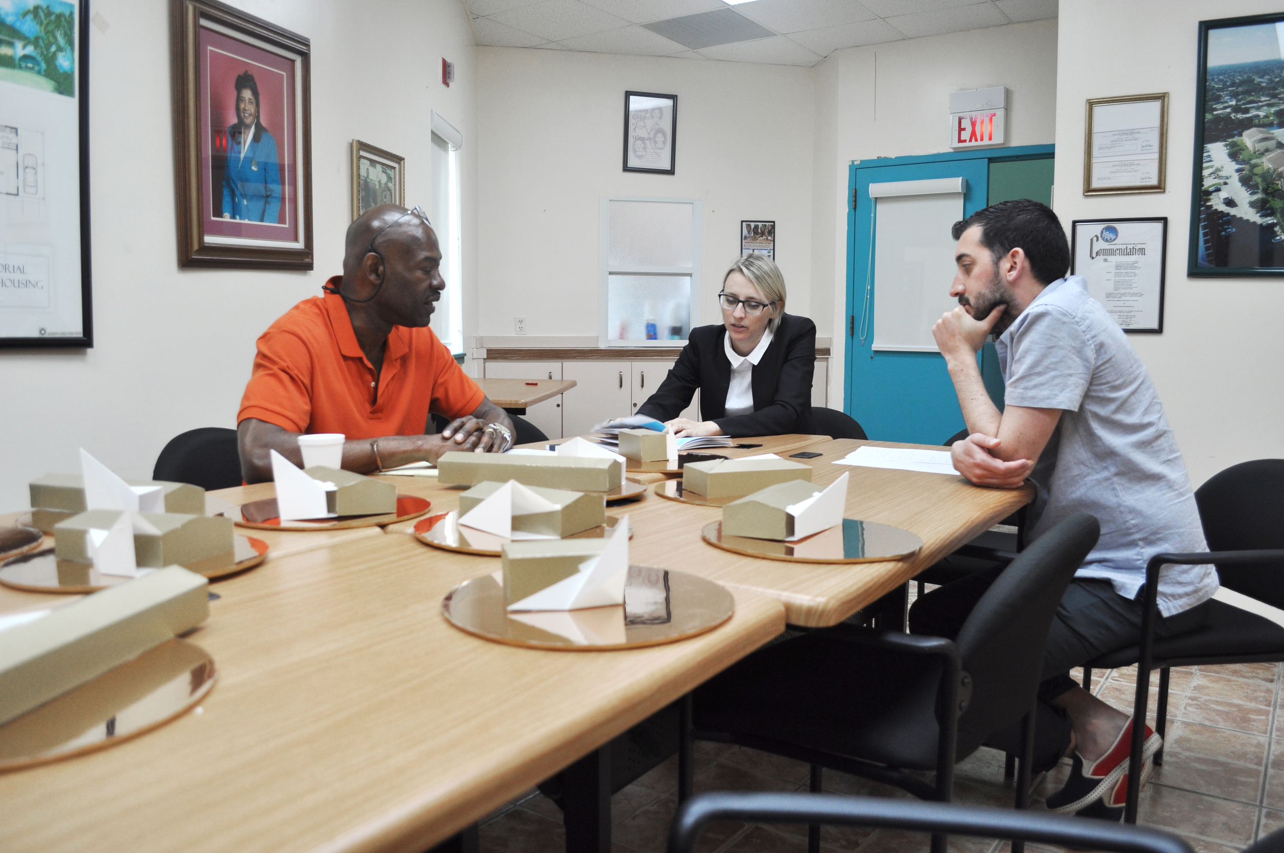 Meeting with Willie Logan at OLCDC headquarters.