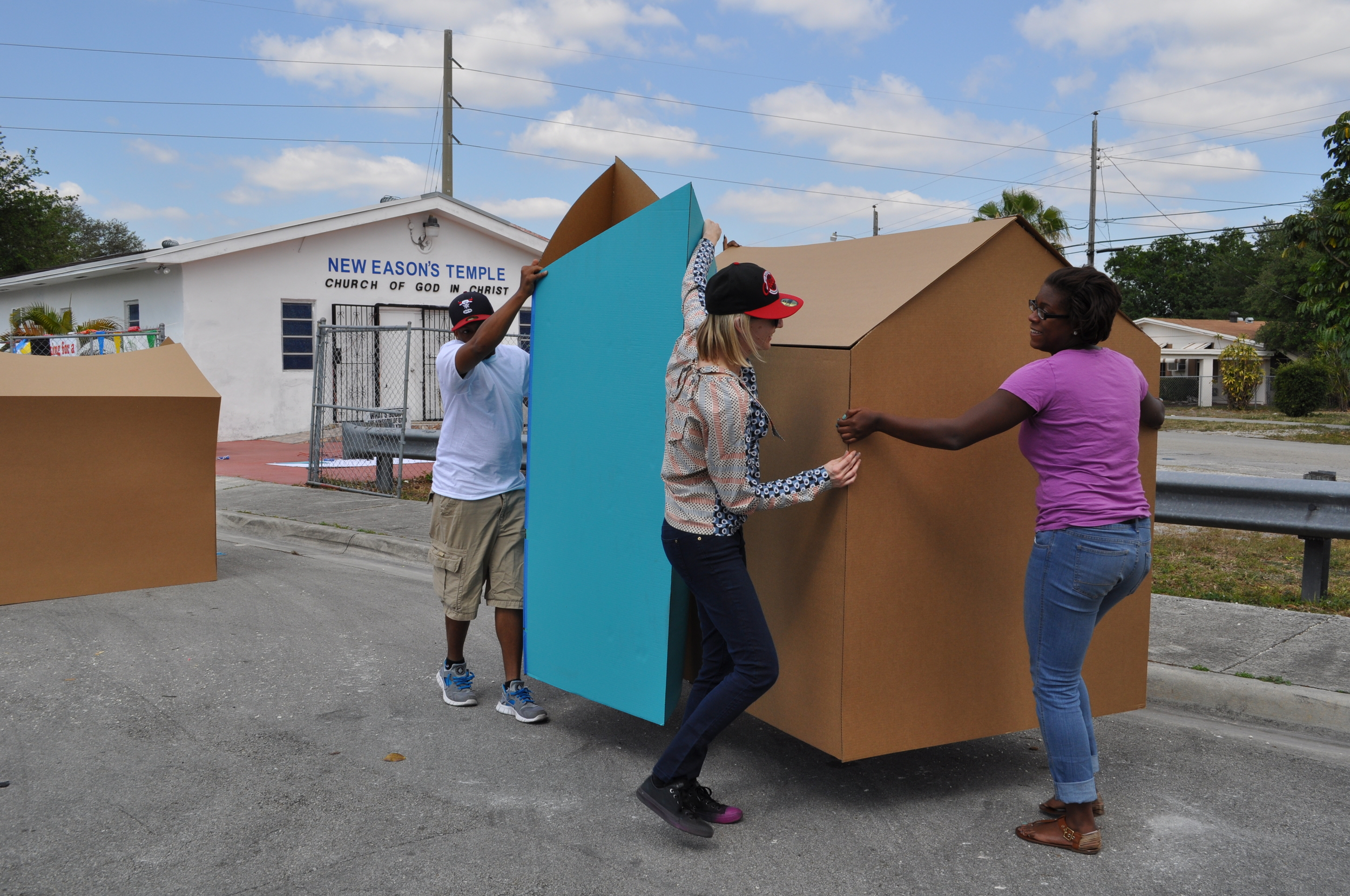 Setting up the Micro-Enterprise structures before the Pop-Up Park begins.