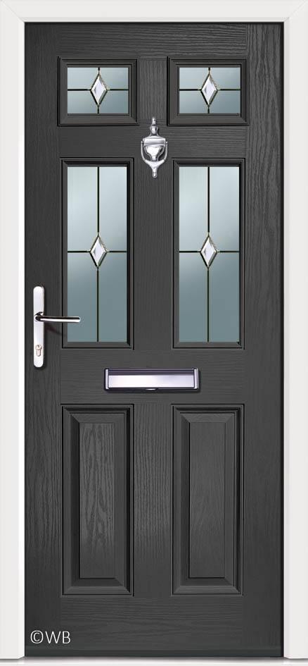 timeless design 1249f 86863 Carlton 4 Anthracite Prism | Grey Composite External Door ...