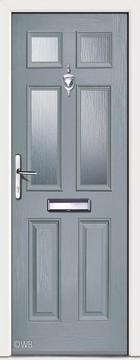 Carlton 4 Slate Grey Glazed