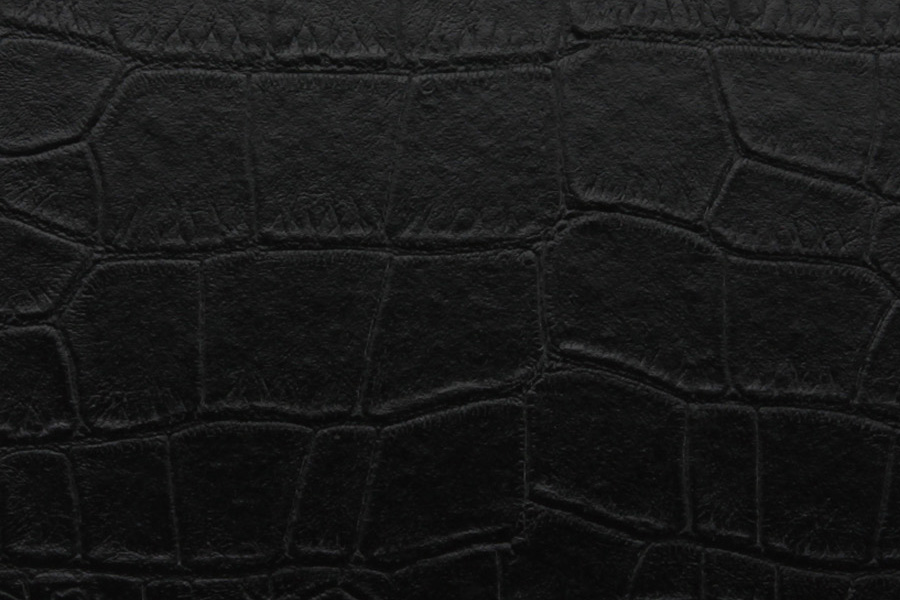 Black Alligator Leather