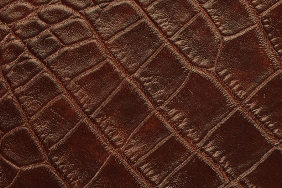 Dark Brown Alligator Leather