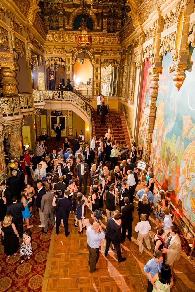 Landmark Theatre wedding reception