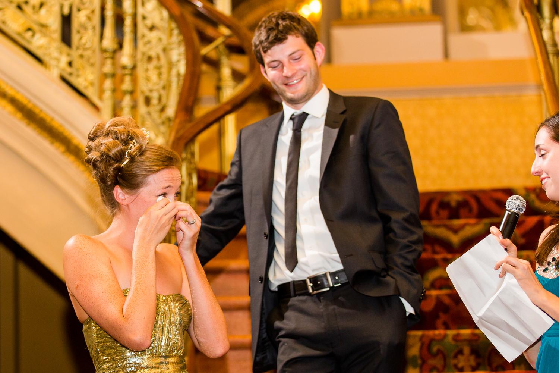 Landmark Theatre wedding speech
