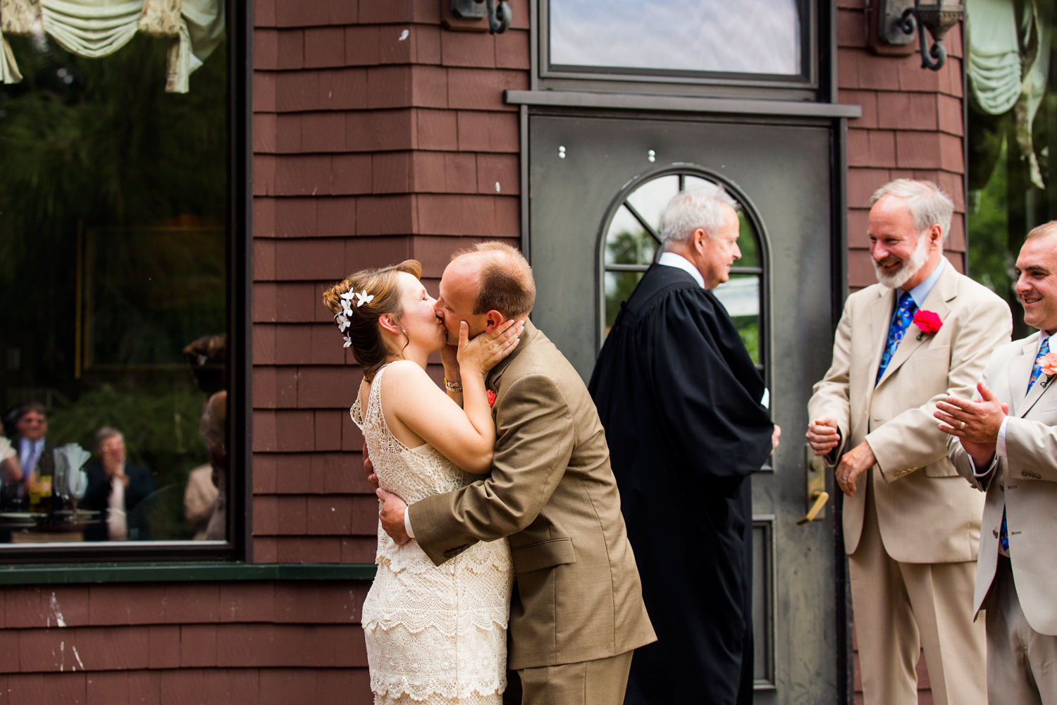 Wedding ceremony at the Brewster Inn
