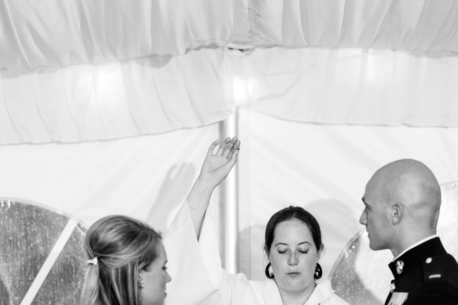 Wedding ceremony at Traditions at the Glen
